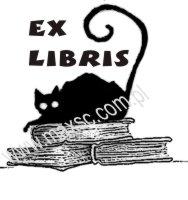 Ekslibris kot na książce