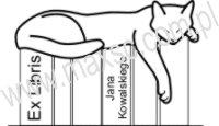 Exlibris wzór z kotem 1