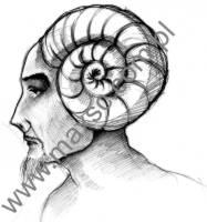 Ekslibris zodiak baran mężczyzna