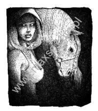 Ekslibris kobieta z koniem