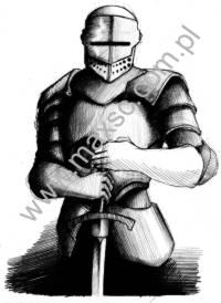 Ekslbris wzór rycerz 1