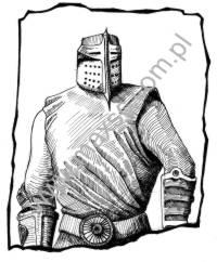 Ekslibris wzór rycerz 2