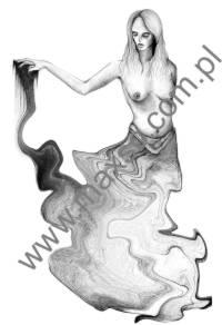 Ekslibris zodiak wodnik