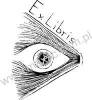 Exlibris wzór oko
