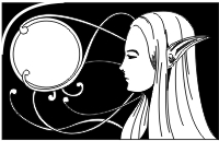 Exlibris z elfem