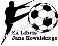 Exlibris wzór piłkarz