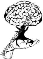Wzór exlibrisu mózg drzewo