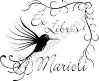 Wzór exlibrisu koliber
