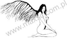 Wzór ekslibrisu upadły anioł
