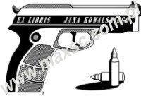 Exlibris broń