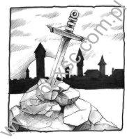 Wzór ekslibrisu-nagi-miecz