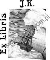 Ex Libris Sztorm w kształcie księgi