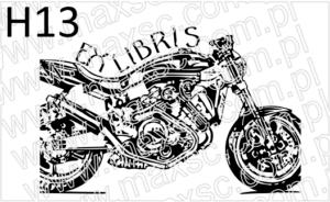 Ekslibris projekt motocykl