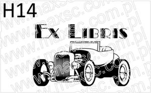 Grafika do stempla stary samochód
