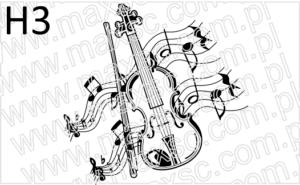 Grafika exlibris z motywem muzycznym