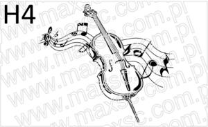 Grafika exlibris motyw muzyczny skrzypce