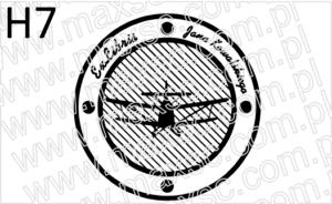 Grafika do ekslibrisu z samolotem dwupłatowym
