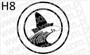 Grafika exlibris motyw morski żaglówka na fali
