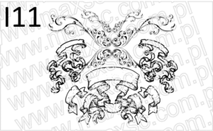 Ekslibris z motywem herbu ozdobnego