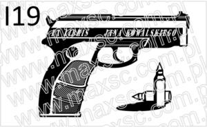 Projekt ex libris z pistoletem