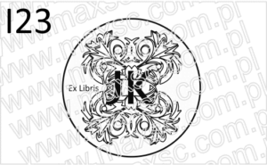 Grafika z motywem herbowym do stempla ex libris