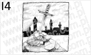 Exlibris grafika z mieczem
