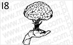 Wzór grafiki ex libris drzewo mózg