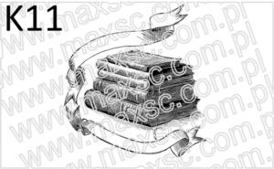 Ex libris książka ze wstęgą