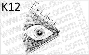 Ex libris wzór książka z okiem