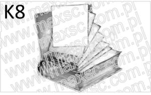 Wzór ex libris książka wypadające kartki