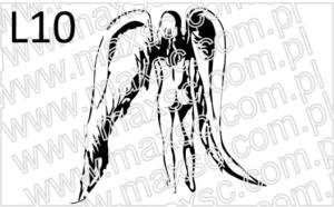 Wzór ekslibrisu z aniołem