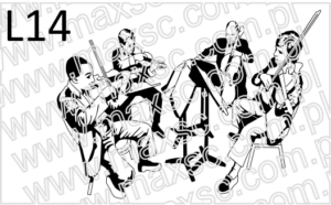 Wzór ekslibris z orkiestrą
