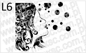 Grafika ekslibris twarz kobiety