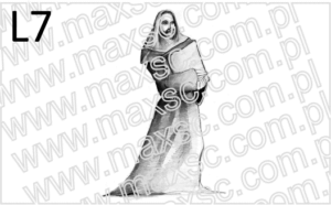 Wzór grafiki ekslibris z mnichem