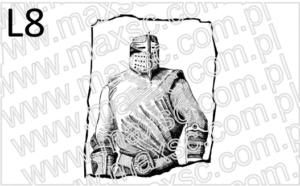 Grafika do pieczątki ekslibris z rycerzem