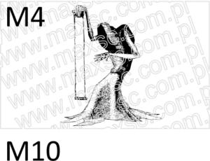 Ekslibris grafika do stempla pieczątki śmierć ze wstęgą