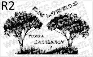 Grafika gotowa ex libris z drzewami