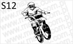 Ekslibris projekt z motocyklistą