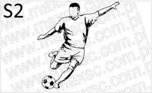 Ekslibris wzór z piłkarzem