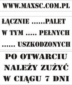 Przykładowe szablony tekstowe- wzory