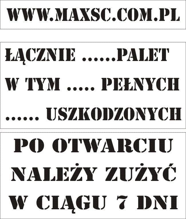 Szablony Malarskie Max Pieczatki Warszawa Stemple Drewniane