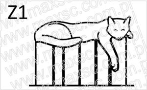 Ex libris wzór kot na książkach