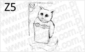 Kot trzymający książkę 2