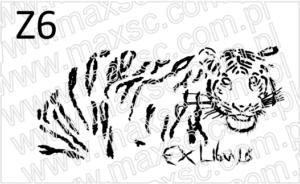 Ekslibris wzór z tygrysem