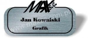 Identyfikator grawerowany z logo