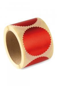 Naklejka czerwona suchy stempel