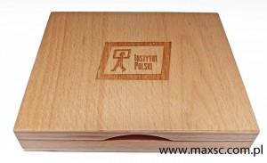 Poduszka drewniana do tuszu z dodatkowym grawerem