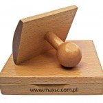 Poduszka drewniana na tusz z e stemplem