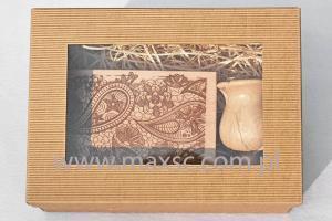 Poduszka i stempel ex libris w ozdobnym pudełku