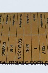 tabliczka znamionowa opisowa